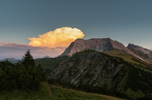 The Red Cloud - Gaishorn -Tannheimer Tal  (Available for Print)