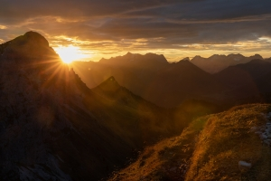 Sunrise - Rote Flüh - Tannheimer Tal  (Available for Print)